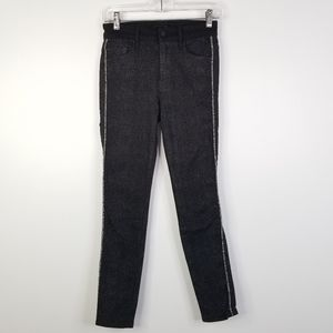 Mother High Waisted Looker Jeans 25 Diamond Rough